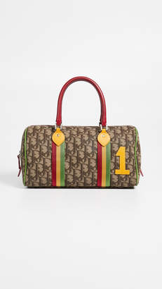 Christian Dior What Goes Around Comes Around Brown Rasta Boston Bag