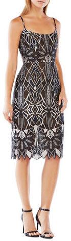 BCBGMAXAZRIABcbgmaxazria Geometric Pattern Dress