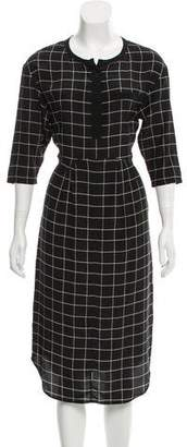 Steven Alan Silk Windowpane Patterned Dress