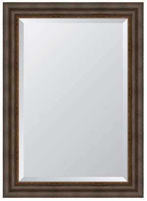 "Melissa Van Hise Dark Bronze with Gold Lip Framed Mirror - 31.25"" x 43.25"" x 2"""