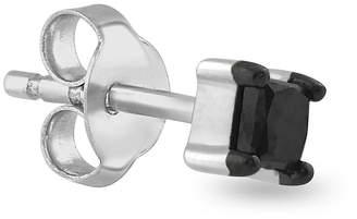 Black Diamond FINE JEWELRY Mens 1/10 CT. T.W. Color-Enhanced 14K White Gold Stud Earring