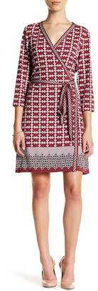 Max Studio Geo Grid Pannel Dress (Petite)