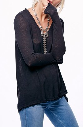 Women's Free People 'Anna' Burnout High/low Tee $43.50 thestylecure.com