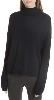 Vince Cashmere Boxy Turtleneck Sweater