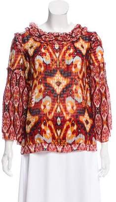 Tory Burch Printed Silk Top