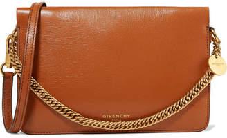 c28c90ef9682 Givenchy Gv Cross Suede-trimmed Leather Shoulder Bag