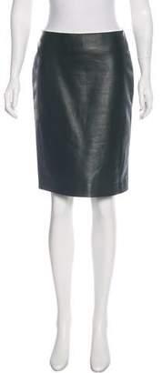 Reed Krakoff Leather Knee-Length Skirt