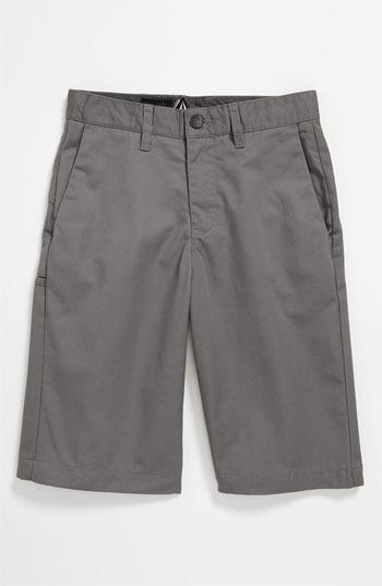Volcom 'Friendly' Chino Shorts (Big Boys)