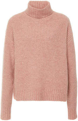 Sally LaPointe Exclusive Rib-Knit Cashmere And Silk Blend Sweater