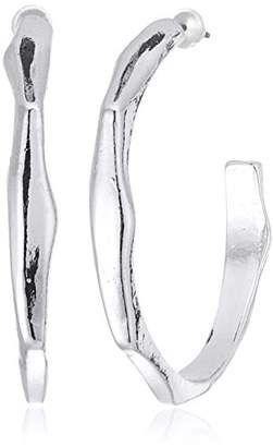 Steve Madden Contoured Open Back Hoop Earrings