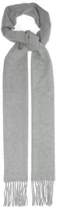 Acne Studios Canada Narrow Wool Scarf - Mens - Light Grey