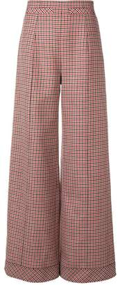 Courreges houndstooth palazzo trousers
