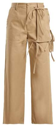 MM6 MAISON MARGIELA Utility Pocket Cotton Chino Trousers - Womens - Beige