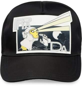 Prada printed saffiano baseball cap