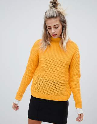 Noisy May cable high neck knit