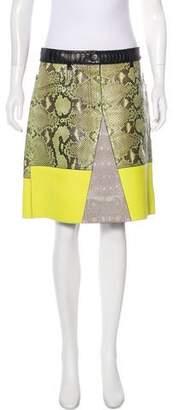 Proenza Schouler Knee-Length Python Skirt