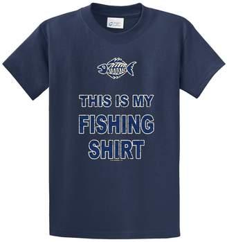 B&TM Printed Tees My Fishing Shirt Printed TEE Shirt - Grey 4XT