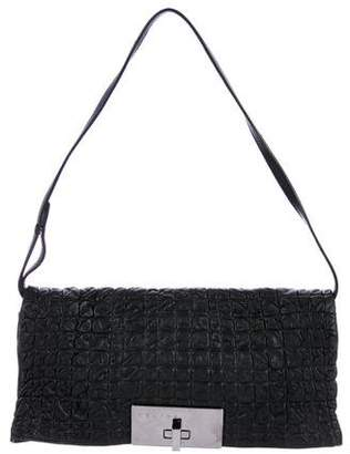 Celine Ruched Leather Clutch