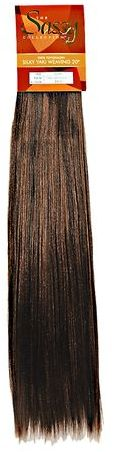 The Sassy Collection Sassy Silky 20 inch Yaki Weaving Extensions #F4/30 Brown and Auburn Mix