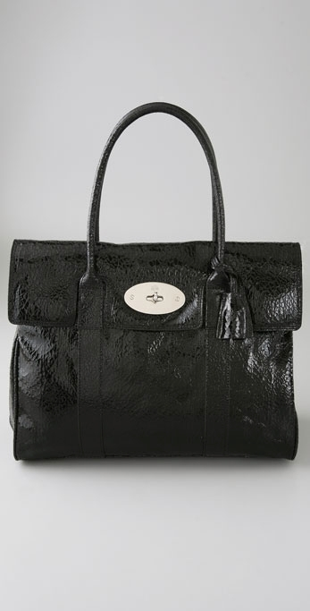 Mulberry Bayswater Cracked Tote