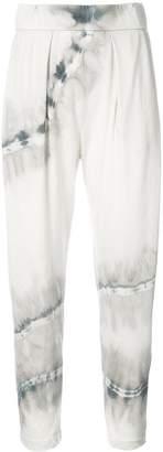 Raquel Allegra tie dye cropped trousers