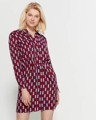 Diane von Furstenberg Taya Drawstring Shirtdress