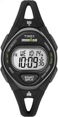 Timex Ironman Sleek 50 Womens Black Strap Watch-Tw5m109009j