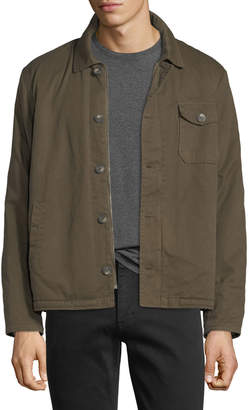 Velvet Canvas Faux-Sherpa-Lined Army Jacket