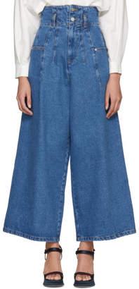 Etudes Blue Minimalist Wide-Leg Jeans