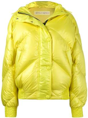 Dunlop Ienki Ienki Yellow hooded puffer jacket