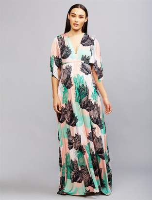 Rachel Pally Pea Collection Caftan Maternity Maxi Dress- Agave Print