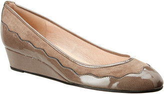 French Sole Obsess Patent And Suede Wedge