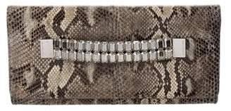 Michael Kors Embellished Snakeskin Clutch