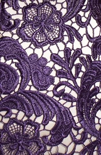 Eliza J Embroidered Lace Overlay Sheath Dress (Regular & Petite)