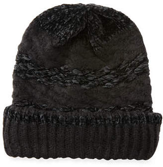 Rebecca Minkoff Blocked Yarn Slouchy Beanie Hat