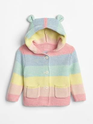 Gap Stripe Garter Hoodie Sweater