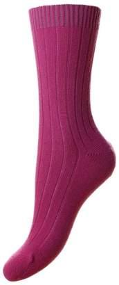 Pantherella Womens Tabitha Cashmere Socks - Damson
