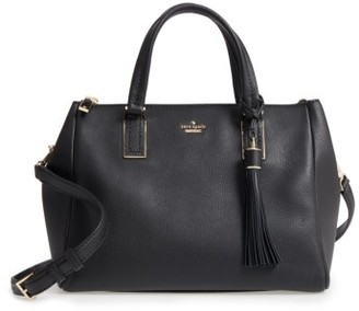 Kate Spade New York Kingston Drive - Alena Leather Satchel - Black $398 thestylecure.com