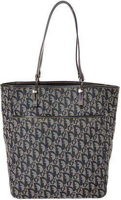 Christian Dior Navy Trotter Canvas Tote
