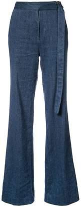 Josie Natori high-waisted palazzo pants