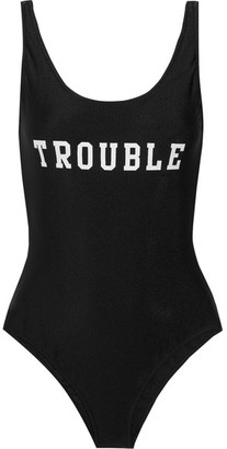 Adriana Degreas - Trouble Printed Swimsuit - Black $295 thestylecure.com