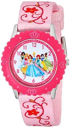 Disney Kids' W001798 Princess Stainless Steel Time Teacher Watch