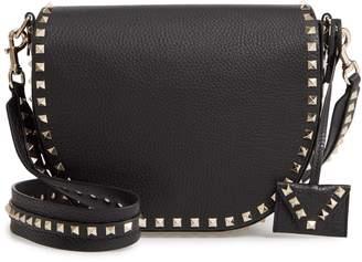 Valentino Rockstud Leather Saddle Bag