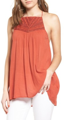 Women's Sun & Shadow Embellished High/low Tunic $49 thestylecure.com
