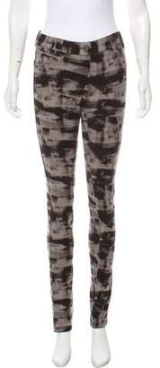 Theory Printed Mid-Rise Leggings