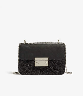 Karen Millen Glitter shoulder Bag