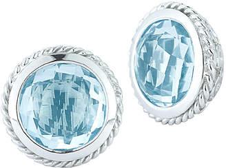 Alor Delatori by Delatori By Delatori Silver 2.50 Ct. Tw. Blue Topaz Earrings