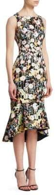 Peter Pilotto Kia Dandelion Fluted Midi Dress