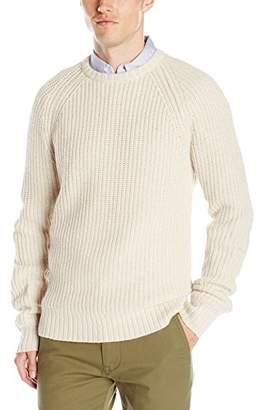 Jack Spade Men's Shaker Stitch Ribbed Crew Neck Sweater
