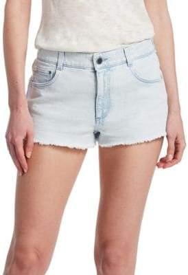 Peserico Light Wash Cut-Off Denim Shorts